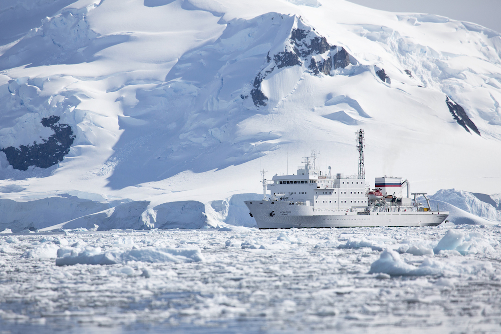 One Ocean Expeditions operates small expedition cruises in Antarctica.