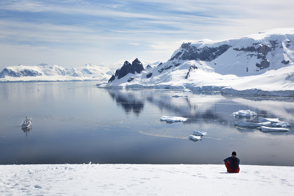 Hiking is a popular activity when travelling with One Ocean Expeditions to Antarctica.