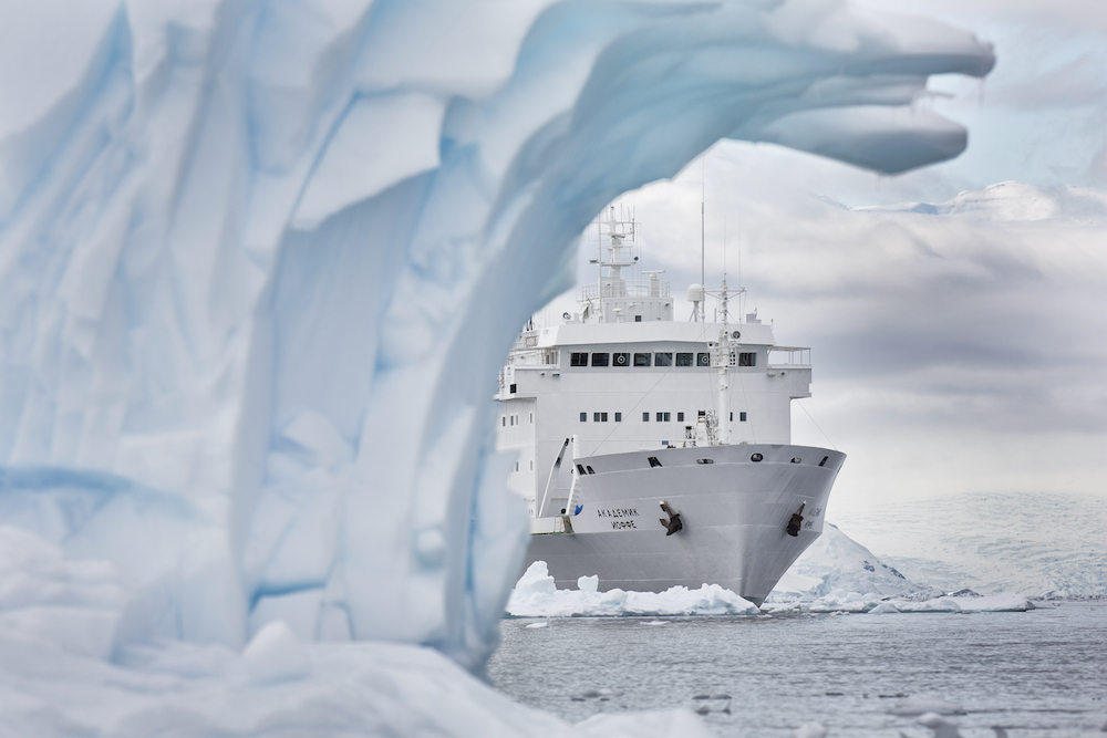 One Ocean Expeditions operates ice strengthened cruise ships in Antarctica.