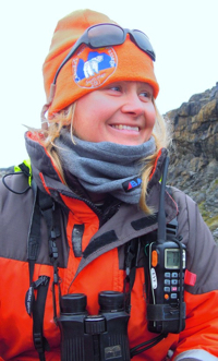 Eva Molin Westerholm is a program coordinator and assistant expedition leader. She is one of the One Ocean Expeditions staff members who will accompany you while traveling on your Arctic, Antarctic, or Canadian Coast adventure cruise.