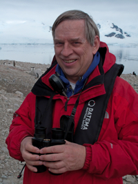 Steve Bailey is an ornithologist presentation staff on polar expeditions and one of the One Ocean Expeditions staff members who will accompany you while traveling on your Arctic, Antarctic, or Canadian Coast adventure cruise.